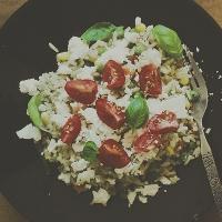 risotto + sallad